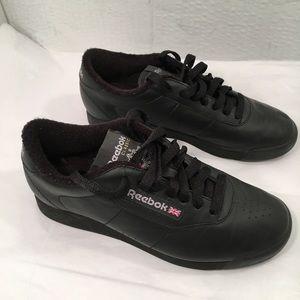 NWOT Reebok Classic Black Princess Grandma Shoes